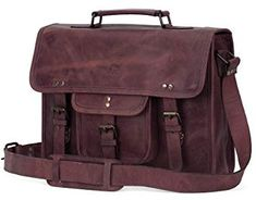 New 15 Inch Leather Vintage Rustic Crossbody Messenger Satchel Bag Gift Men Women ~ Business Work Briefcase Carry Laptop Computer Book Handmade Rugged & Distressed online - Topstarfashion Computer Bags, Laptop Computers, Cool Messenger Bags, Kipling Backpack, Laptop Tote, Luggage Straps, Vintage, Leather, Satchel Bag