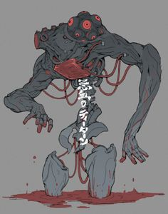 The Titan of blood, Ching Yeh on ArtStation at https://www.artstation.com/artwork/amn90