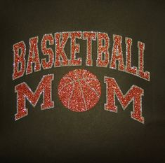 Women's Glitter Bling Basketball Mom shirt by RedheadedMonkeys, $22.00