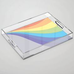Pastel Rainbow Wave Acrylic Tray by laec Color Pop, Tray, Pastel, Waves, Rainbow, Store, Rain Bow, Colour Pop, Cake