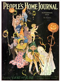 peoples home journal magazine november 1924 illustration by louise clasper rumley - Halloween Magazines