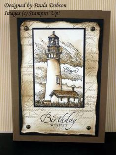 Weathered Lighthouse by Sponge Queen - Cards and Paper Crafts at Splitcoaststampers