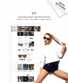 Eye Glasses Responsive Shopify Theme #64152
