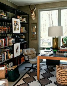 Love this masculine office.