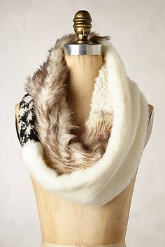 Miru Faux-Fur Scarf - want to make similar to one like this