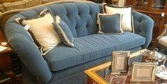 Blue Kidney Shaped Sofa