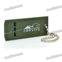 Airsoft Mini Tri-band Whistle - Army Green  Price: $1.80