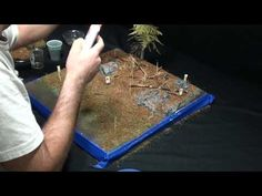 ▶ Diorama Making Tutorial: How to use cork to make rubble - YouTube
