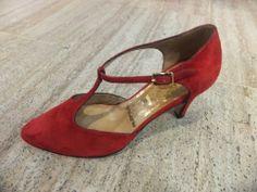 Nazaryan Kundura hakiki deri, el yapımı, kırmızı süet klasik abiye ayakkabı modeli