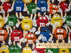M'S® Licensed Funfetti Packed Mars Chocolate Candy Fabric by the 1/2 Yard BTHY on eBay!