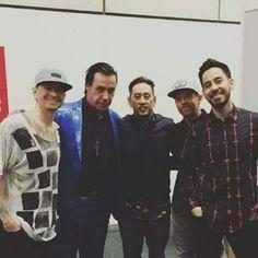 Till Lindemann with Linkin Park