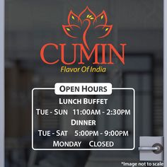 Custom Business Hours | Stickertitans.com | Custom Business / Office / Shop / Salon / Restaurant Open Hour Vinyl Decal | Hours of Operation | Our Vinyl Signs are made from Oracal 651 | 470-585-2229