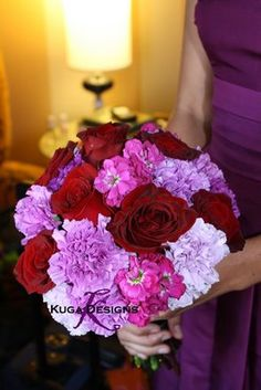 red and purple wedding theme | Purple,+Plum,+and+Red+Wedding+Bouquet+for+a+Black+and+Purple+wedding ...