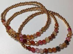 Delicate Set of Agate Bracelets