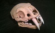 Sabre tooth tiger skull helmet. Larp safe. by DragonArmoury, $150.00
