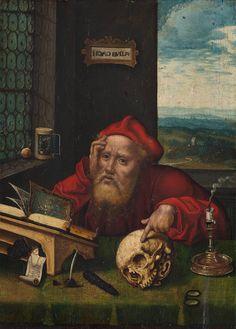 De Heilige Hieronymus in zijn studeercel, Anoniem, 1530 - 1540 | Museum Boijmans Van Beuningen
