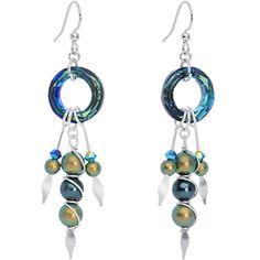 Handmade Mermaid Tools Dangle Earrings Created with Swarovski Crystals | Body Candy Body Jewelry