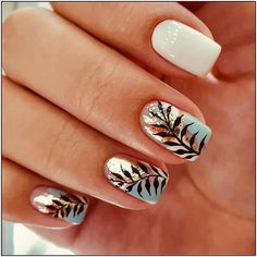 150 fall leaf nail art designs to let your hug autumn 15 thereds. Nail Art Designs, White Nail Designs, Fall Nail Art, Autumn Nails, Simple Fall Nails, Short Square Nails, Nagellack Trends, Nagel Gel, Nail Ideas
