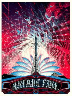 Wes Winship does these wonderful posters as a long time collaborator with Arcade Fire.