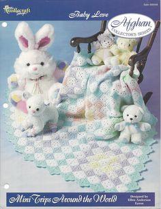 🔶 🔷 Bebê Blocos Coberta Acolchoada Crochê itens decorativos Criações -  /  🔶 🔷 Baby Blocks Quilt Crochet Knacks Creations -