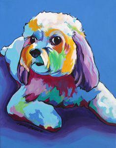 Cavachon Maltipoo Cavapoo Havanese Cockerpoo Lhasa by KarrenGarces Maltipoo Dog, Cavachon, Dog Pop Art, Rainbow Dog, Mosaic Animals, Lhasa Apso, Arte Pop, Dog Tattoos, Dog Portraits