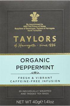Taylors of Harrogate Organic Peppermint, 100 Tea Bags (Pack of Total 100 Teabags) Peppermint Tea, Taylors, North Yorkshire, Organic, My Love, Bags, Handbags, Mint Tea, Bag