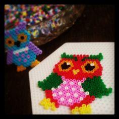 Owl hama perler beads by perand88