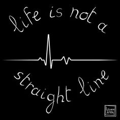 """""""Life is not a straight line"""" - Personal work - Jan 2016 - T-shirt or post card purpose"""