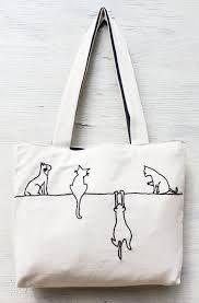 Resultado de imagen para bolsos de tela con gatos