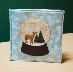 Winter Animals Cloth Book printed on organic by exlibrishandmade, $35.00