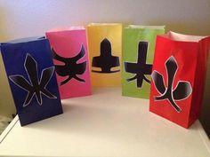 Power Ranger Samuri Inspired Party Favor Goody bags by JaysFunShop, $22.99