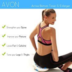 cool Avon Active Tonificador/Engrandecedor de Glúteos - Fortalece la Columna, Pierde Grasa y Celulitis, Tonifica Tus Piernas y Muslos