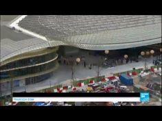 Paris-Les Halles: Unveiling of 1 billion euro revamp of metro, shopping complex - YouTube