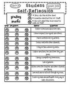 student self reflection