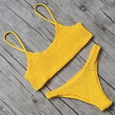 c74420c06e90d Waterfall Bikini (6 Colors) Yellow Bandeau Bikini