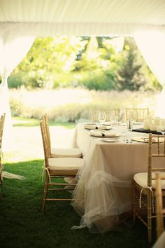 tulle as tablecloth...pretty!