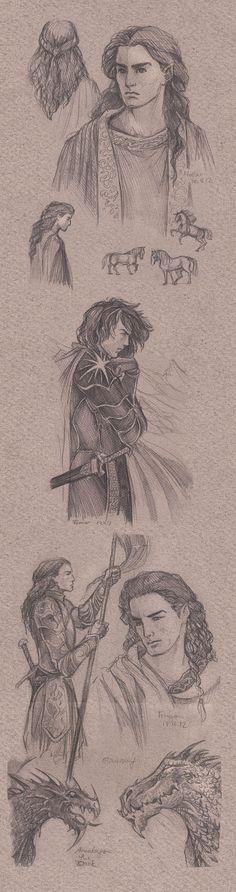 Silmarillion sketch page II by Jenny Dolfen