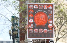 SF Beer Map Poster