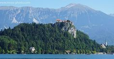 Ronnie Moas Photography | Lake Bled, Slovenia... Long lake in a picturesque environment. Mountains, forests, a church and a castle. #travel #Slovenia #lake #explore #naturephotography #forest #church #mountains #castle #outdoors