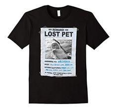 Lost pet shark t shirt punk Shark missing Amazon