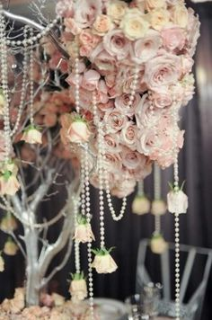 Wedding PINK - BLUSH and pearls!! my theme!