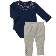 Carter's® Long-Sleeve Bodysuit Pant Set - Girls newborn-24m - jcpenney