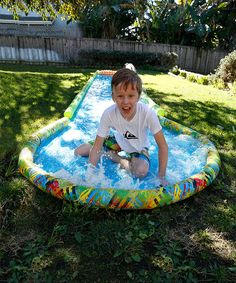 Another great find on #zulily! Slide & Surf Screamin' Water Slide by Slackers #zulilyfinds