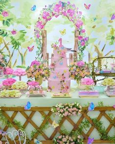7th Birthday, 1st Birthday Parties, Butterfly Decorations, Tropical Party, Ideas Para Fiestas, Garden Theme, Party Themes, Baby Shower, Rose