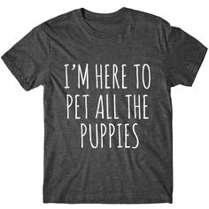 Metallic Gold Print I'm Here to Pet All the Puppies Womens Graphic... (€13) ❤ liked on Polyvore featuring tops, t-shirts, shirts, black, women's clothing, tee-shirt, print t shirts, pattern t shirt, metallic gold t shirt and sleeve t shirt