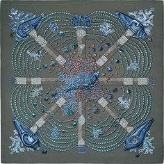 GABRIELLE'S AMAZING FANTASY CLOSET | Hermes 100% silk twill scarf, hand-rolled (90 x 90 cm)