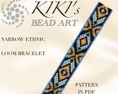 Bead loom pattern - Narrow ethnic inspired LOOM bracelet PDF pattern instant download
