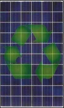 A napelemek újrahasznosítása szinte 100%-ban megoldott. Az újrafeldolgozók legnagyobb problémája az alacsony mennyiségű utánpótlás. (Nem mennek tönkre a napelemek.) Yoshi