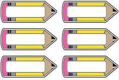 Etykiety ołówki Classroom Labels, Classroom Displays, School Border, School Frame, School Labels, School Clipart, Teachers' Day, School Decorations, Beginning Of School