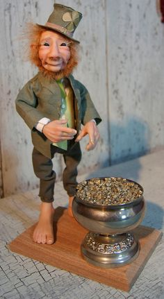 Lucky Irish Leprechaun ooak fantasy art doll by TheWindowOfTheSoul
